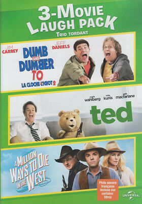 Dumb And Dumber To / Ted / A Million Ways To Die In The West (3-Movie Laug (Dvd)