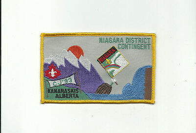 Scout Canada 8Th Canadian Jamboree Niagara District Contingent Large Patch Jambo