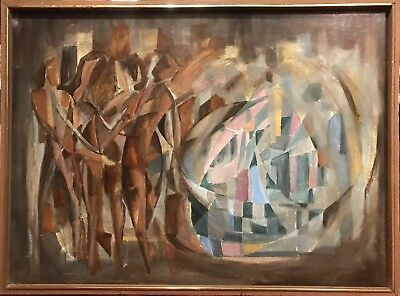 Marcel Luquet - Huge 1960's French Abstract Oil - Incredible Colours & Shapes