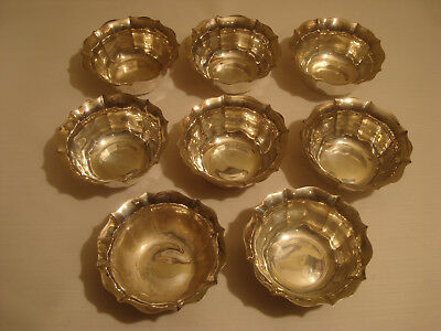 8-Egyptian Silver Bowls, .900, Nut Or Candy Bowls, Selling For Scrap Value