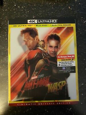 ANT-MAN AND THE WASP(BLU-RAY and 4K ULTRA  ) no digital code with Slipcover