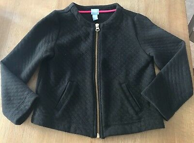 Baby Gap Girls Black Soft Quilted Dress Jacket Size 5