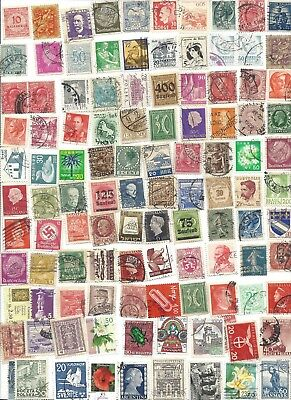 100 Different cancelled Worldwide  Stamps 6/12