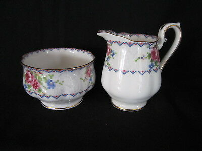 Royal Albert - PETIT POINT - After Dinner Creamer and Sugar  - Made in England