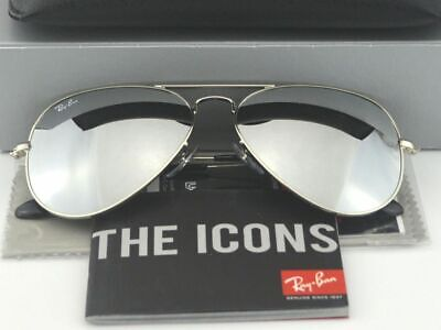 656054c5a9 RAY-BAN Sunglasses Aviator Mirror Silver Glass Lenses RB3025 W3277 58mm  Unisex