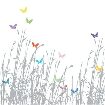 Butterfly Grass Wildlife Square Art Greeting Card Blank Inside Any Occasion