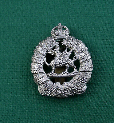 1st Bn The Monmouthshire Regiment Genuine British Army Military Cap Badge {NL23}