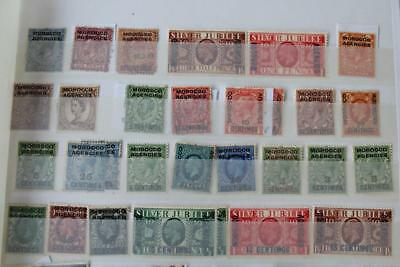 MOROCCO AGENCIES Stamp Collection - Useful Mint and Used Ranges from KGV onwards