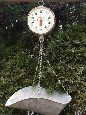 Vintage Blue Penn Scale Co Hanging Produce Scale Series 820 20 Lb With Scoop
