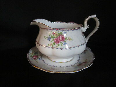 Royal Albert - PETIT POINT - Gravy Boat and Stand - Made in England