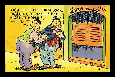 Dr Jim Stamps Us Comic Rescue Mission They Just Put The Doors On Linen Postcard
