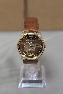 Disney Ltd Edition Gold-Tone Dumbo 50th Anniversary Watch by Pedre Tested