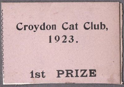 Vintage Litho '23 Cat Kitten London England Old Advertising Club Show Prize Card