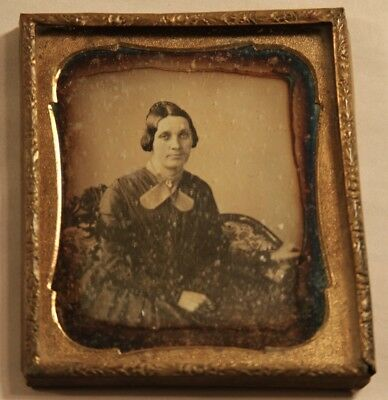 1850s 6th Plate Size Daguerreotype Photo of a Woman