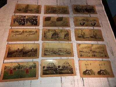 Lot Of 22 Antique/Vintage Stereoscope/Stereoview Cards James M Davis 1895