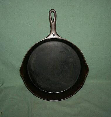 Antique Wagner Ware 10 1060 Cast Iron Skillet Heat Ring Clean