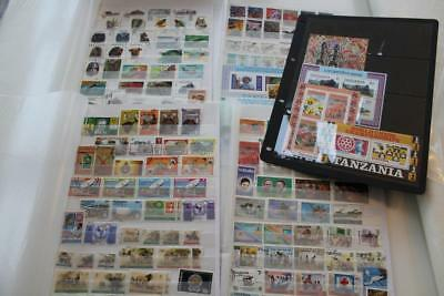 TANZANIA Fine Stamp Collection on stockpages - Useful ranges