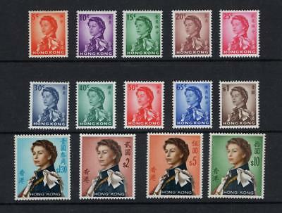 Hong Kong 1962 Partial QEII Set - OG MLH & MH - SC# 203-216  Cats $112.85