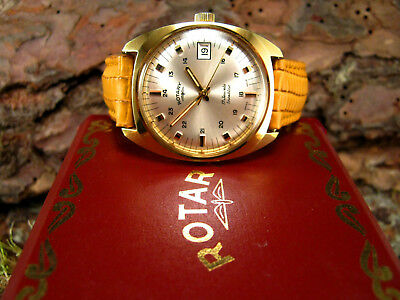 1960s Military Style 24 Hr Dial BOXED ROTARY Vintage Retro Mens 34mm Watch
