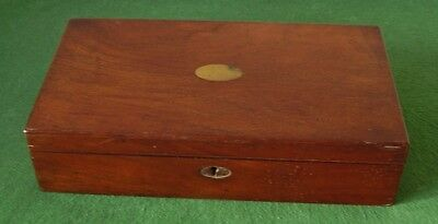 ANTIQUE BOX MAHOGANY FITTED GAMES COMPENDIUM CHESS BACKGAMMON + MUCH MORE c 1870