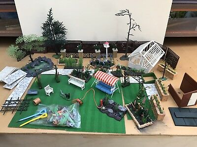 Job Lot 1960s Vintage Britains Floral Miniture Garden
