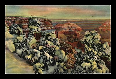 Dr Jim Stamps Us Grand Canyon In The Winter Linen View Postcard