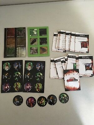 WizKids HorrorClix Replacements Parts - 24 Plot Twist Cards + 29 Tokens Game Pcs