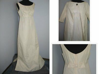 Vintage 1960s Wedding Dress / Wedding Dress with matching coat / Applique beaded