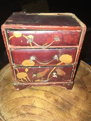 Small Japanese Laquered Chest Of Drawers