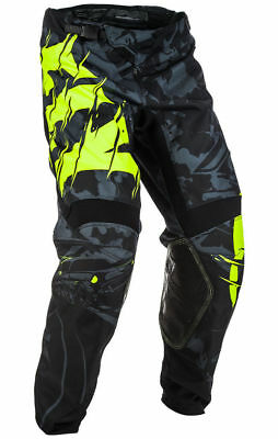 YOUTH motocross pants FLY KINETIC OUTLAW size 24, blk/hi-vis 371-53024