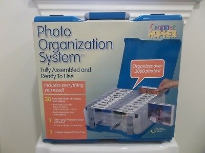 Cropper Hopper Photo Organization System Organizer Storage Case 2000 Photos New