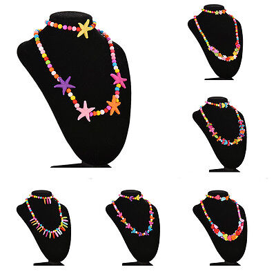 Girls Necklace&Bracelet Set Party Jewelry Bangle Children Gift 6 Type Pip TB