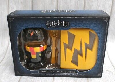 Kids Novelty Harry Potter Egg Cup and Toast Cutter Set Boiled Breakfast - Y99