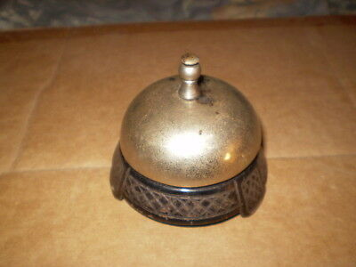 Antique Victorian Hotel Reception Cast Iron Bell rare  free shipping