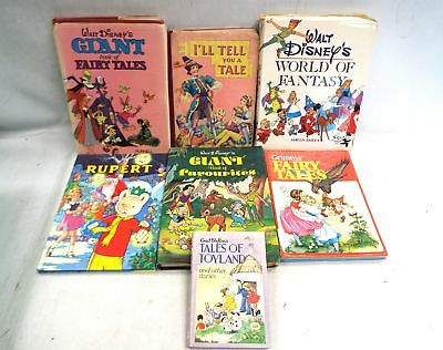 7X Vintage Assorted CHILDRENS BOOKS Hardbacks Mixed Ages Authors Subjects - B23