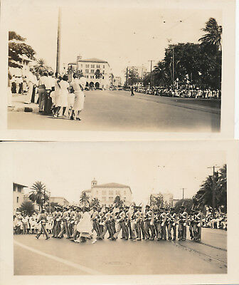 1933  Kam Day Parade, Honolulu Hawaii 2 Photos