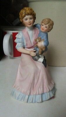 Home Interior Figurine Jonathans Time #1460 Mother and Son. Excellent condition