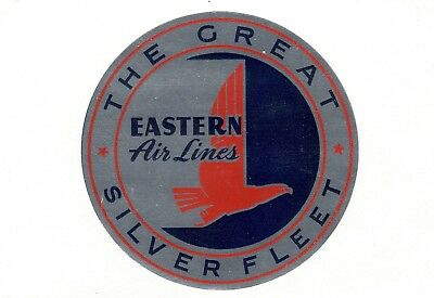 Vintage Airline Luggage Decal:  Eastern Airlines, The Great Silver Fleet