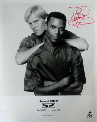 """Dave Wakeling GENERAL PUBLIC Signed Autographed Promo 8"""" X 10"""" Publicity Photo"""