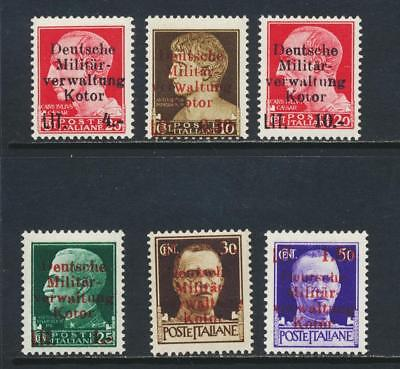 MONTENEGRO KOTOR GERMAN OCCUPATION 1944 TO 50c(SIGNED) VF MLH (SEE BELOW)
