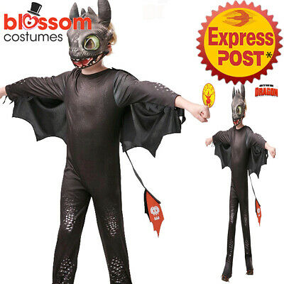 CK1365 Toothless Night Fury How to Train Your Dragon 3 Costume Boys Book Week