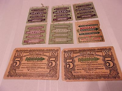 WRIGLEY'S JUICY FRUIT / SPEARMINT Chewing Gum United Profit Sharing COUPONS
