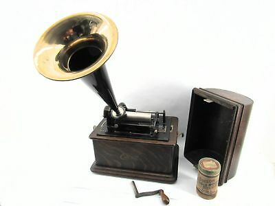 Antique Edison Cylinder Phonograph Complete with C Reproducer