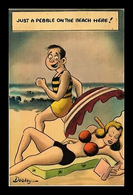 Dr Jim Stamps Us Just A Pebble On The Beach Here Linen Comic Topical Postcard