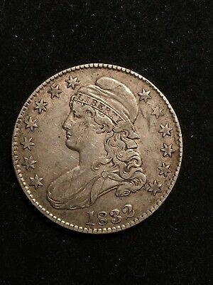 1832 Silver Half Dollar U.S. Coin Capped Bust 50 Cents Liberty