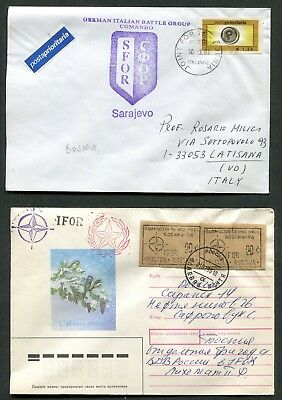 Lot Of 5 Covers, 1 Postcard U.n. Ifor And Sfor Forces In Bosnia (6 Scans)