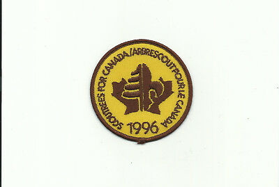 Scout Canada 1996 Scoutrees Trees Canadian Yearly Patch Arbrescoutpourie !!!!!!