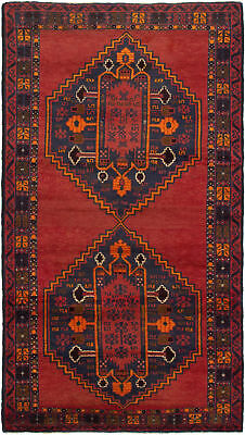 """Hand-knotted Carpet 3'5"""" x 6'6"""" Traditional Vintage Wool Rug"""