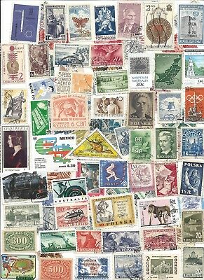75 Different cancelled Worldwide  Stamps 12/01B