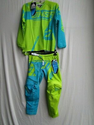 YOUTH motocross ANSWER SYNCRON AIR combo set, pants 26,jersey EXTRA LARGE